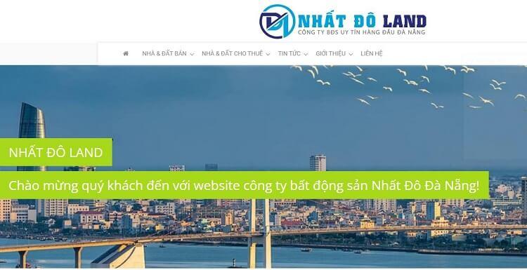 Trang website công ty bất động sản Nhất Đô Land